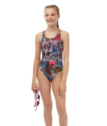 Zany Zebra Girls Swimsuit