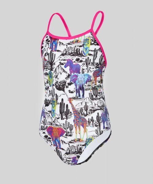 Neon Safari Girls Swimsuit
