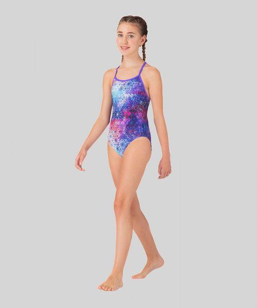 Tessellate Than Never Ecotech Girls Swimsuit