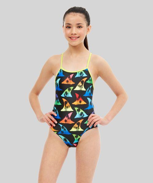 Girls Shark Bait Swimsuit