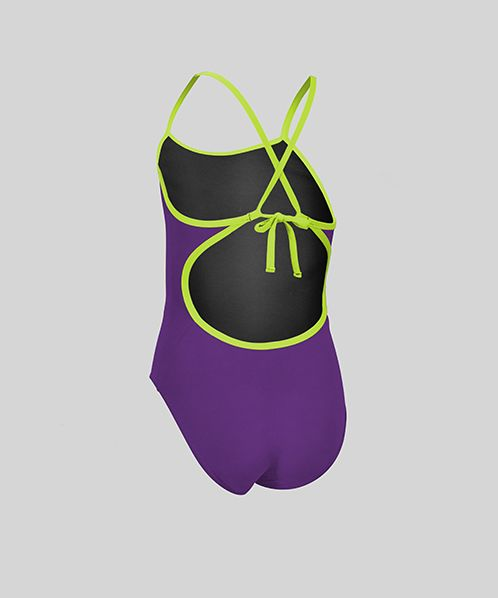 Solid Pacer Tie Back (Purple/Lime)