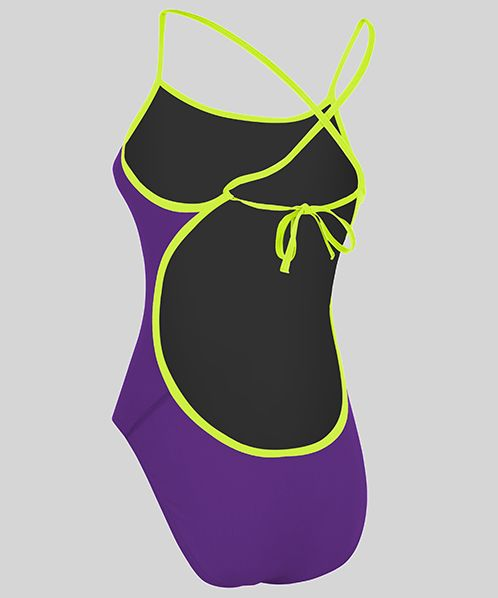 Solid Pacer Cut Away Tie Back (Purple/Lime)
