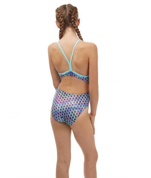 Techno Prism Girls Swimsuit