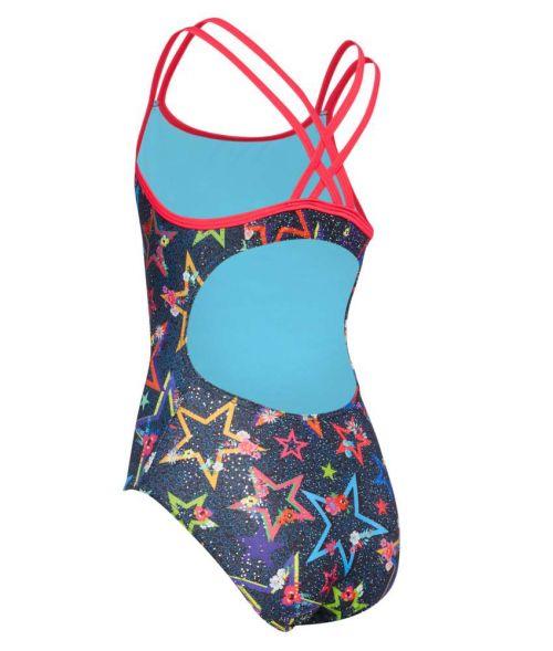 Ditsy Stars Girls Swimsuit - Black