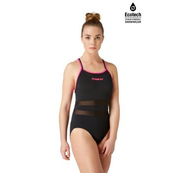 Panther Ace Back (Black/Pink) Swimsuit