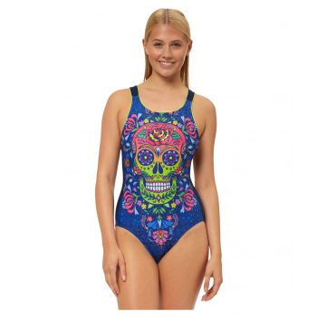 Skulls 'n' Roses Vee Back Swimsuit