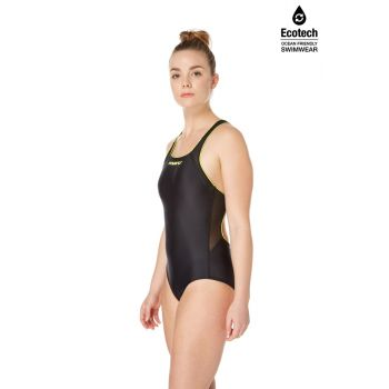 Shadow Vee Back (Black/Mojito) Swimsuit