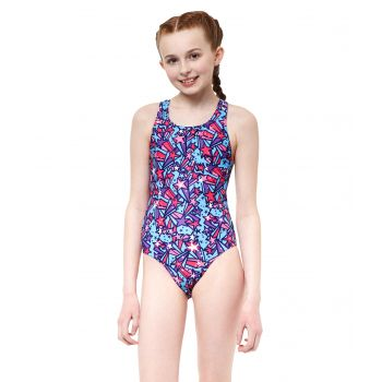 Comet Pacer Rave Back Girls Swimsuit