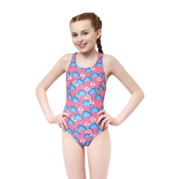Cloudburst Rave Back Girls Swimsuit