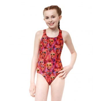 Cool Catz Rave Back Girls Swimsuit