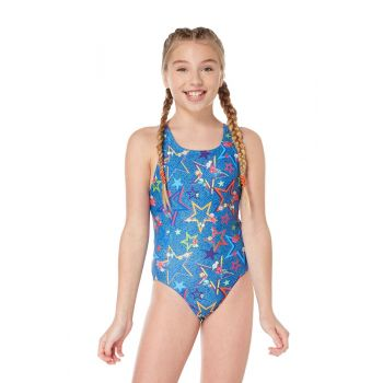 Ditsy Stars Pacer Auto Back Girls Swimsuit