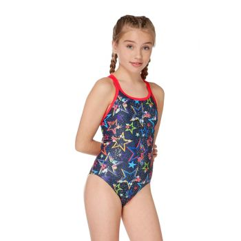 Ditsy Stars Sparkle Arrow Back Girls Swimsuit