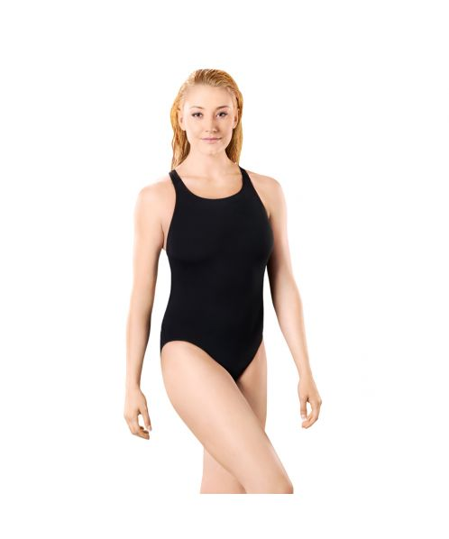 Solid Pacer Closed Back Swimsuit