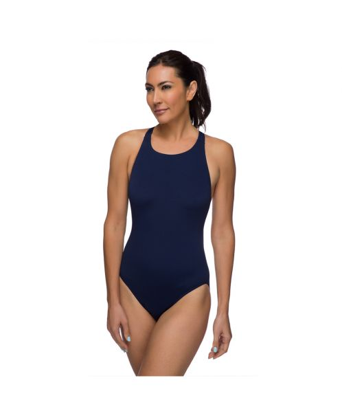 Solid Pacer Open Back Swimsuit
