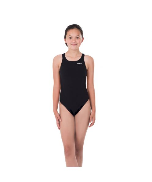 Solid Pacer Closed Back Girls Swimsuit