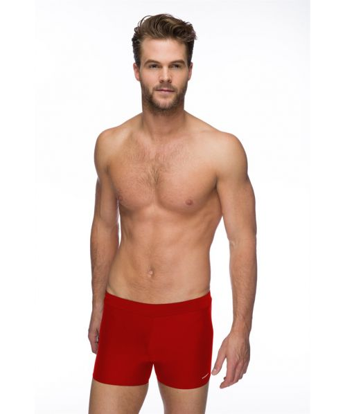 Solid Pacer Swimming Shorts (Red)