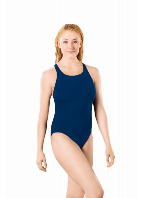 Solid Pacer Open Back Swimsuit (Royal Blue)