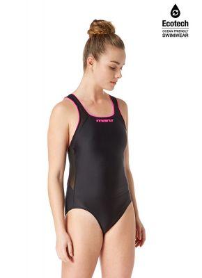 Shadow Vee Back (Black/Pink) Swimsuit