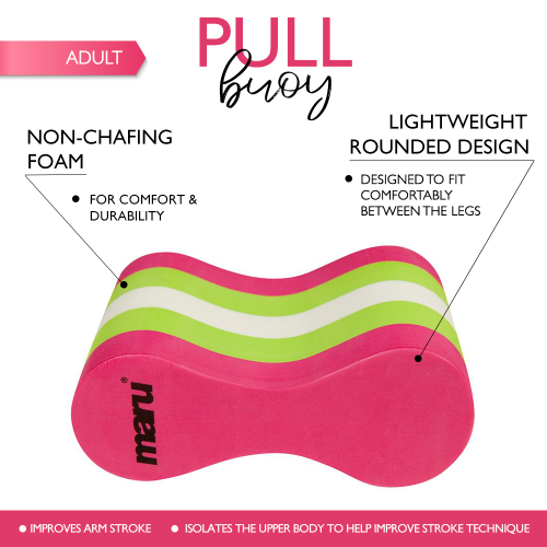 Adult Pull Buoy (Pink/Lime/White)