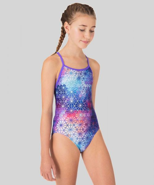 Tessellate Than Never Ecotech Girls Swimsuit