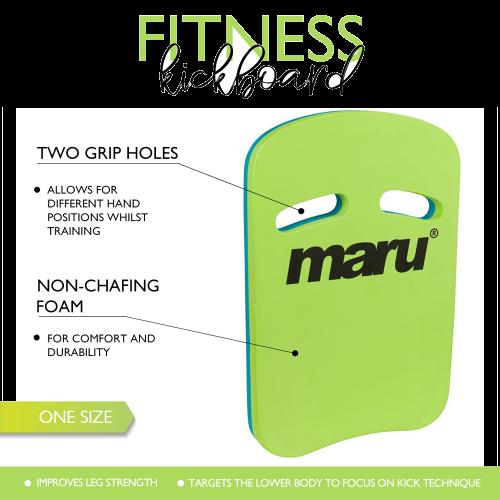 Two Grip Fitness Kickboard (Blue/Lime)