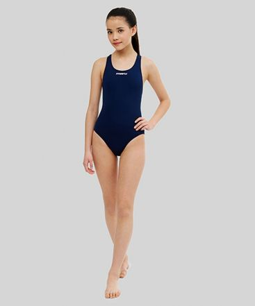 Girls Solid Racer Back (Navy)