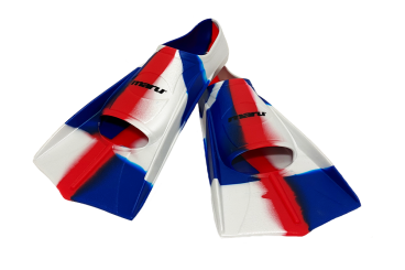 Training Fins - Red/White/Blue
