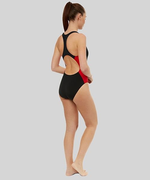 Women's Panel Racer Back (Black/Red)